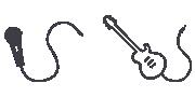 ورودی میکروفون و گیتار سیستم صوتی MHC-V41D