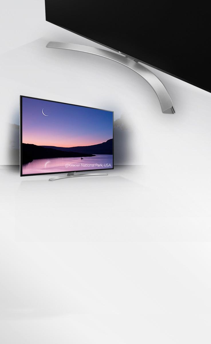 طراحی زیبای تلویزیون ال ای دی UJ752V ال جی